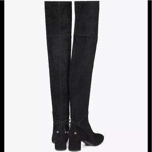 af52ceca7854 Tory Burch Shoes - Tory Burch Laila Black Leather Over the Knee Boots